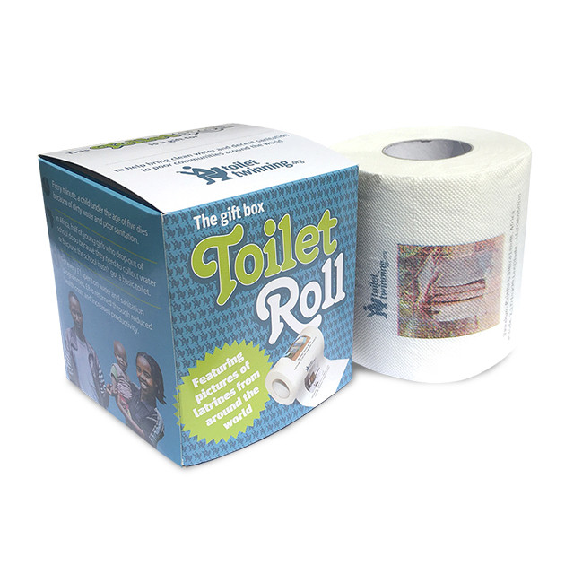 A printed loo roll as a gift